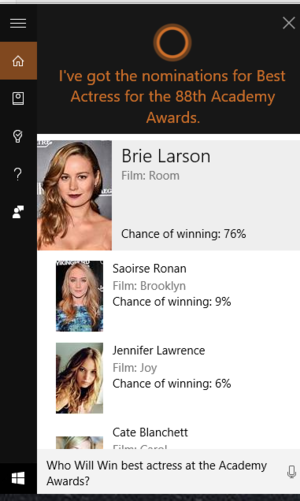 cortana best actress academy awards
