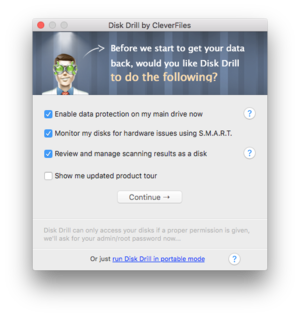 disk drill pro 2 first launch