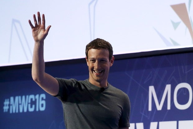 facebook ceo mark zuckerberg mwc 2016