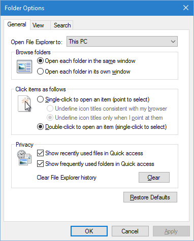 How to make File Explorer's Favorites/Quick access section