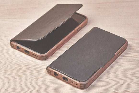 grovemade walnut leather iphone case