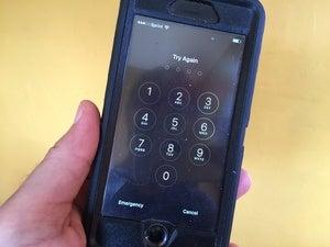 locked iphone