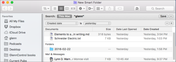 smart folders mac how to find