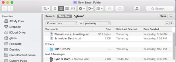 mac911 create smart folder criteria