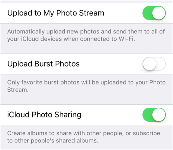 mac911 photo stream setting ios