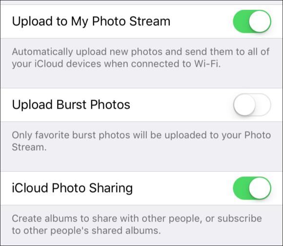 mac911 photo stream setting ios