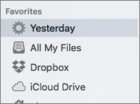 mac911 smart folder in sidebar