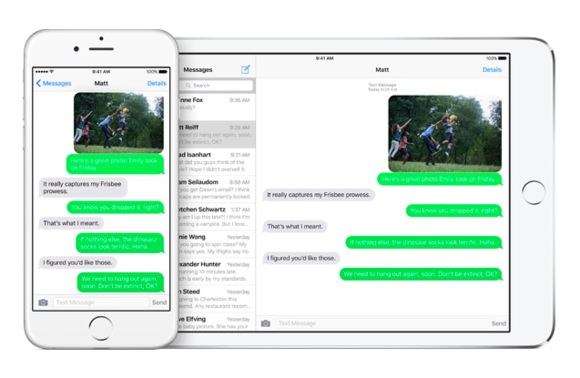 messages family ipad iphone ios9