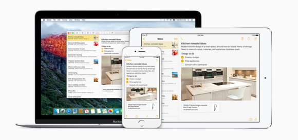 notes family elcapitan ios9