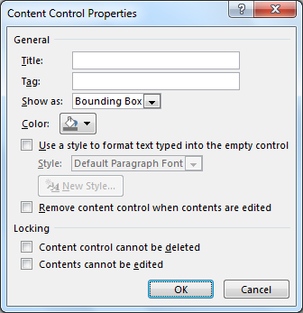 Word master class: How to make custom interactive forms