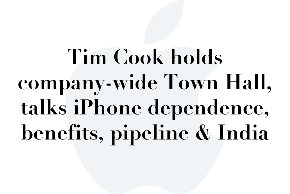 tim cook town hall