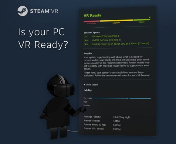 Htc Vive System Requirements >> Steam Debuts A Vr Performance Check Utility For Pcs Ahead Of Htc
