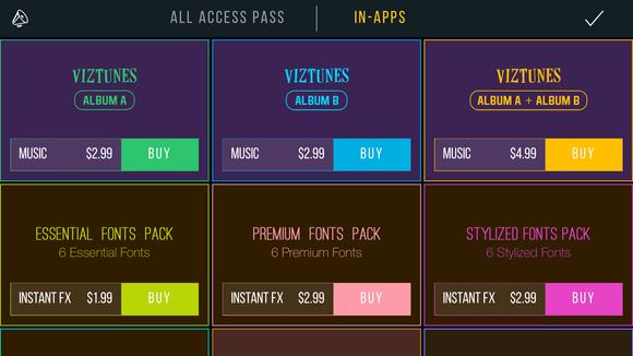vizmato in app purchases