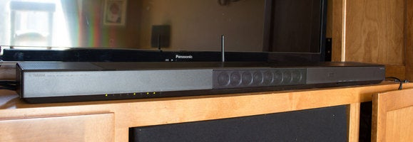 yamaha ysp 1600 sound bar review better with soundtracks than music techhive. Black Bedroom Furniture Sets. Home Design Ideas