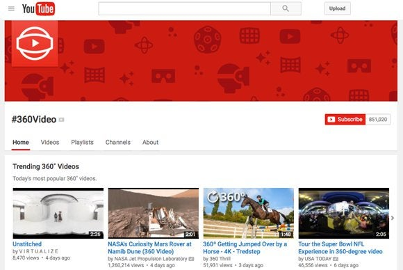 youtube 360 site