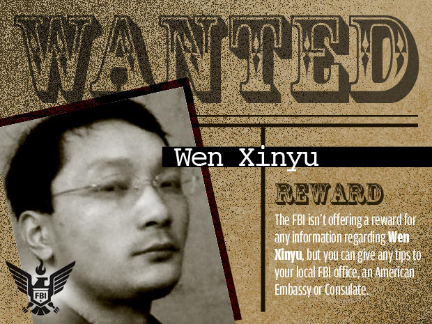 FBI's Most Wanted Cybercriminals: wen xinyu