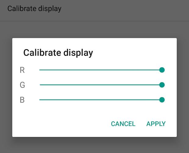 16 calibrate screen