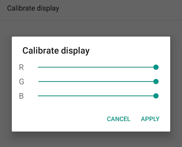 16 calibrate screen