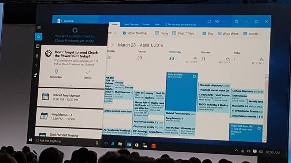 Cortana Outlook