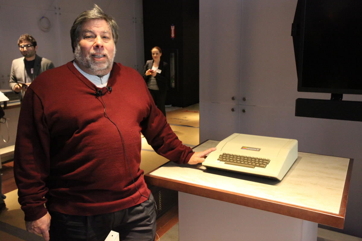 Steve Wozniak and Apple II