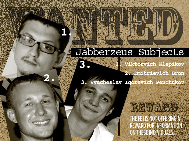 FBI's Most Wanted Cybercriminals:  jabberzeus subjects