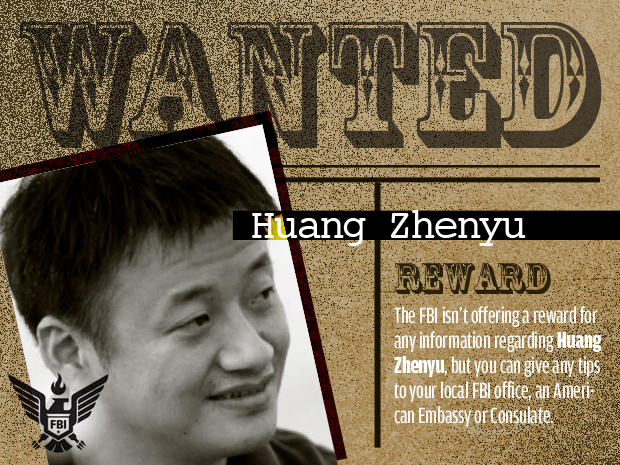 FBI's Most Wanted Cybercriminals:  huang zhenyu