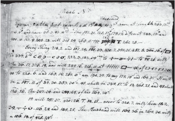 aaron burr encoded letter 1