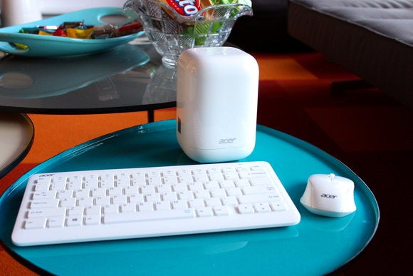Acer Revo One with included wireless keyboard and mouse