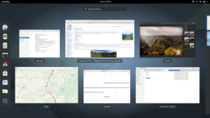 GNOME 3.20's Activities overview