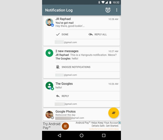 Android Notif Log App