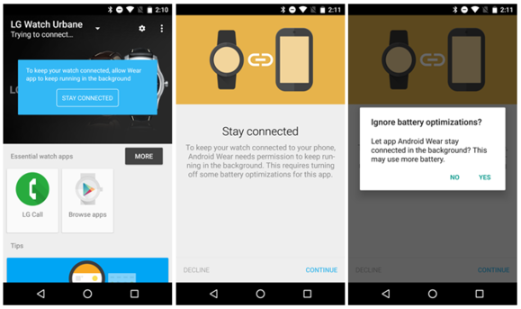 android wear doze