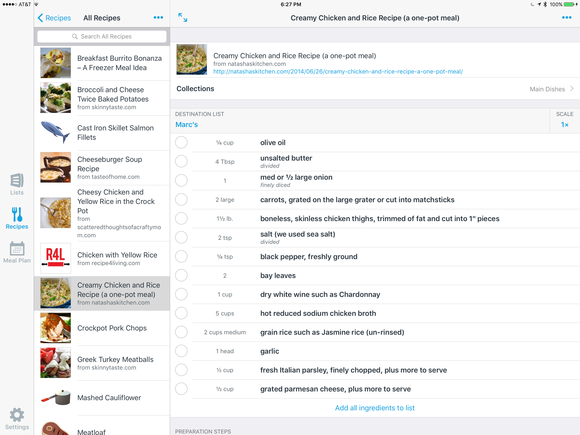 anylist ipad recipes