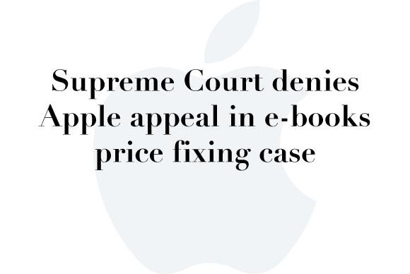 apple ebook supreme court deny