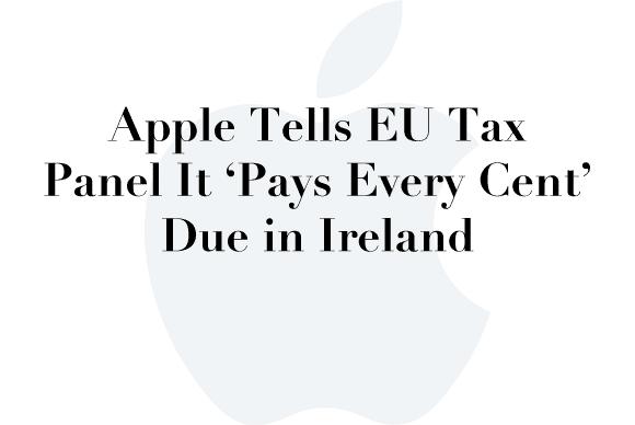 apple eu tax panel
