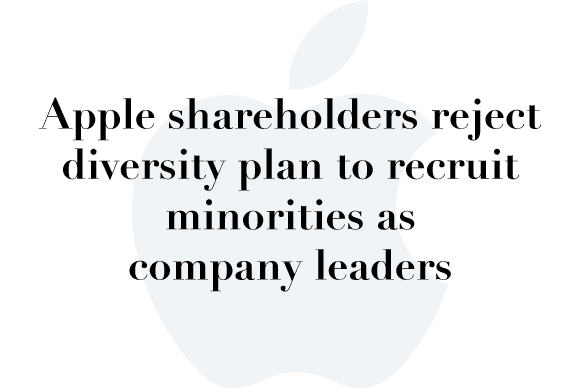 apple reject diversity plan
