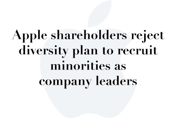 apple reject diversity plan