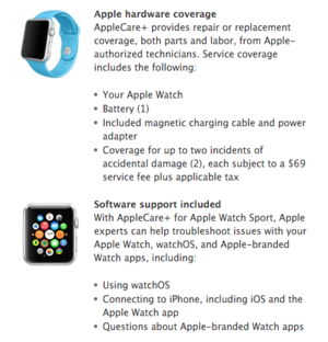 apple watch sport applecare