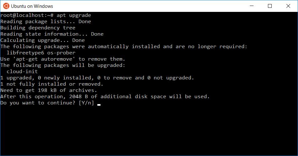 Heres how windows 10s ubuntu based bash shell will actually work apt get on ubuntu on windows 10 reheart Images