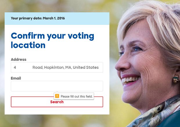 blog hillary voting email