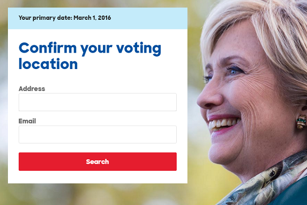 blog hillary voting form