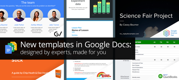 Google Docs template header