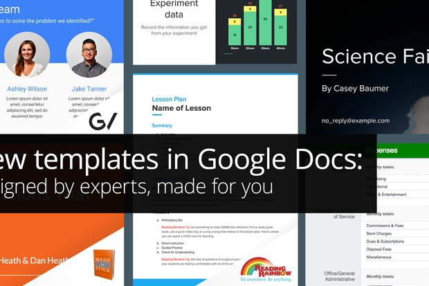 Google Docs template header