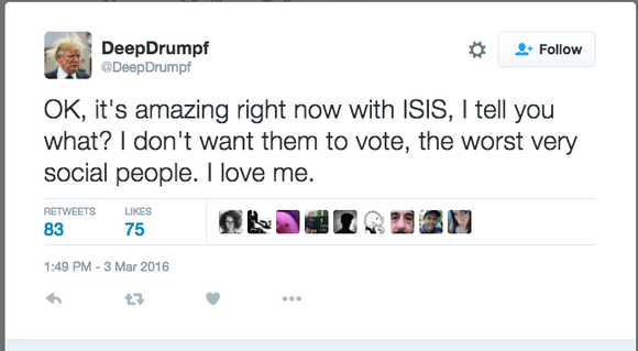 deepdrumpf tweet deep learning