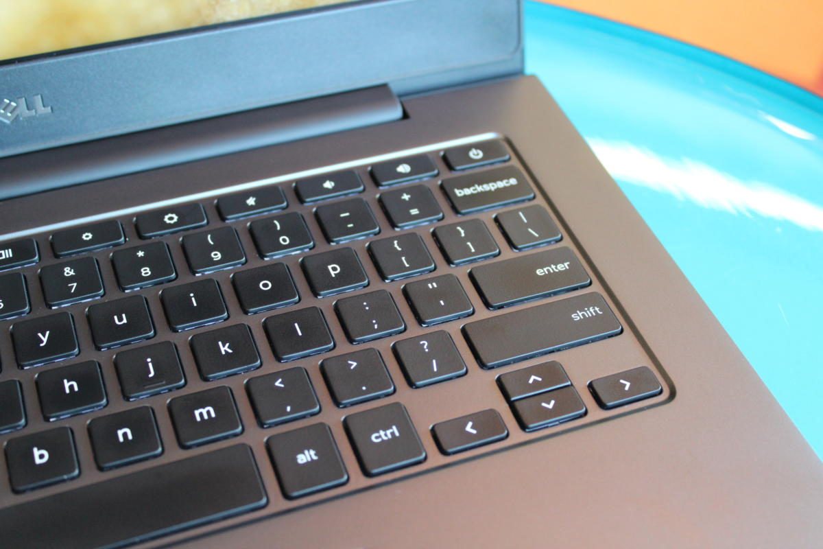 dell chromebook 13 right keyboard detail