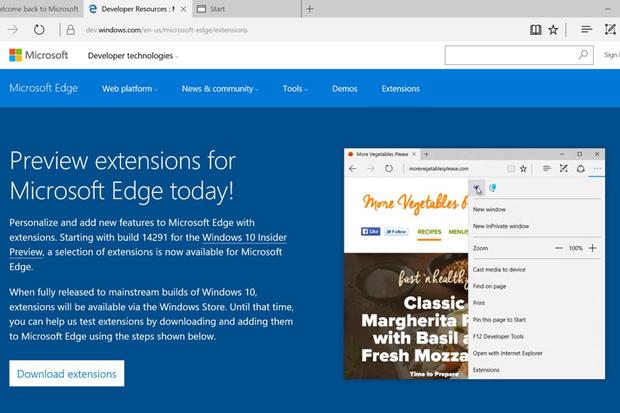 Windows 10's Edge browser finally gets add-ons | Computerworld