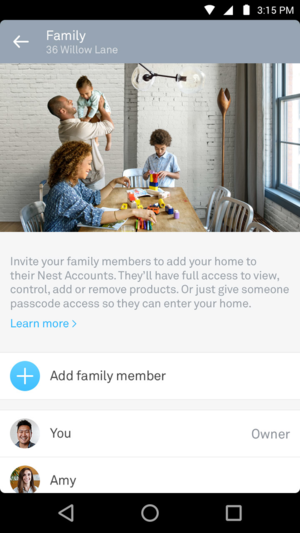 Nest Family Accounts