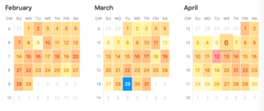 fantastical 25 year density shading