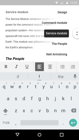 google docs outline android