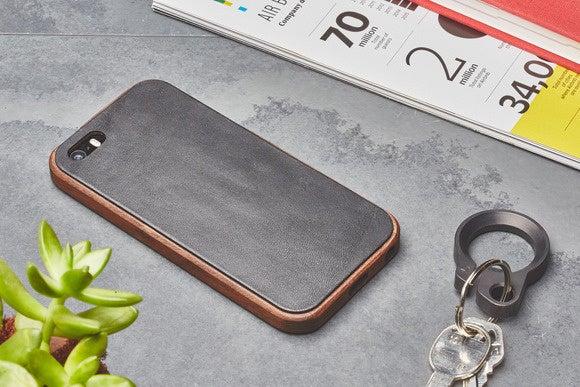 grovemade walnut leather case lifestyle ipse