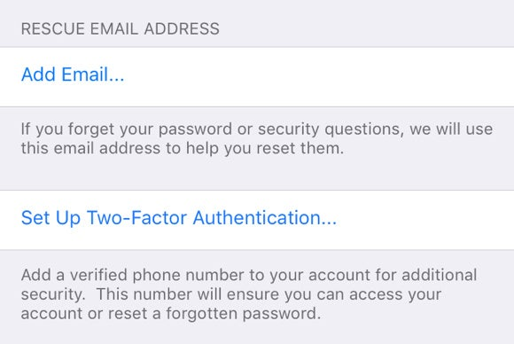 icloud two factor authentication ios 9.3